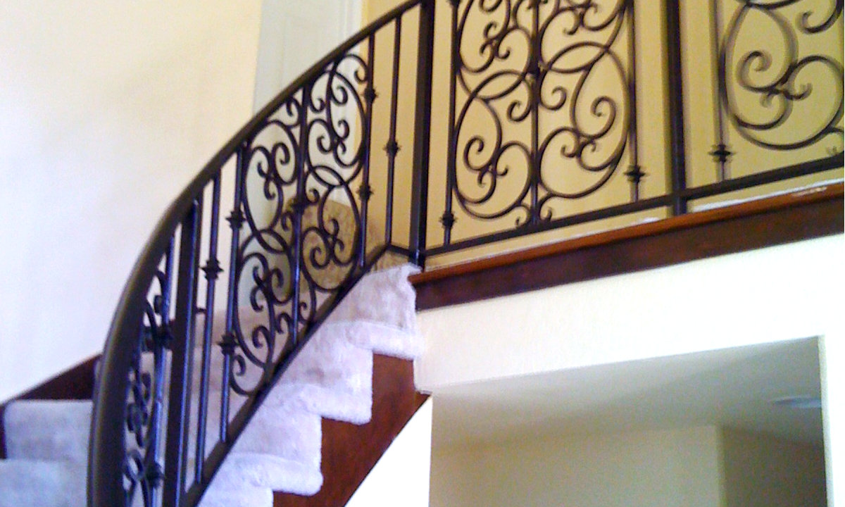 handrail and iron staircase