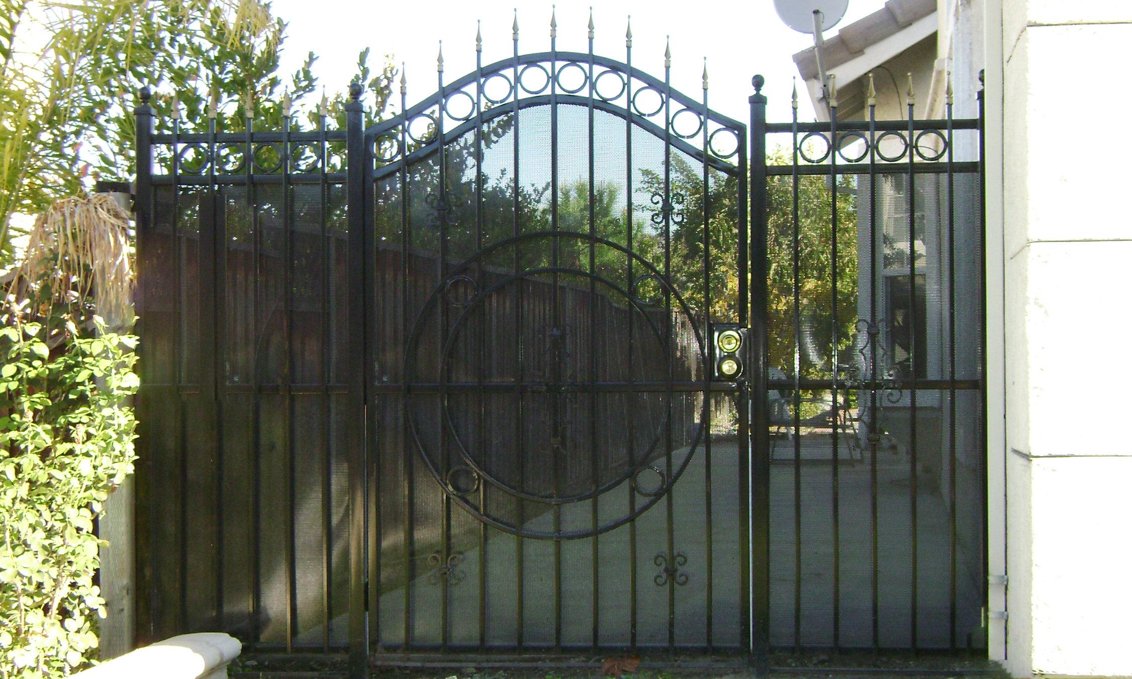 iron pedestrian gates