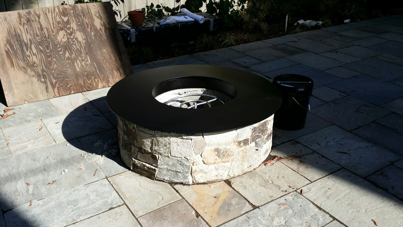 Out door fire pit plate circle 1